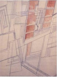 Figure 4: Wyndham Lewis, Composition III (1914-15). Estate of Mrs G.A. Wyndham Lewis. By permission.
