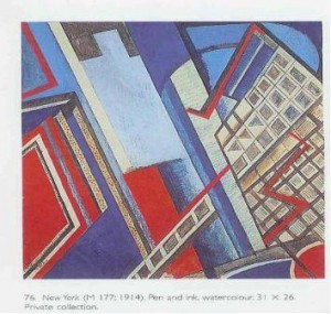 Figure 7: Wyndham Lewis, New York 1914. Estate of Mrs G.A. Wyndham Lewis. By permission.