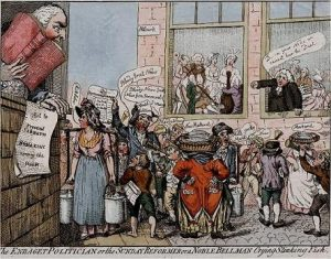 Cruikshank, The Enraged Politician, or the Sunday Reformer … Crying Stinking Fish (1799)