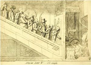 Gillray, A peep into Lady W!!!!!!y's Seraglio (1782)