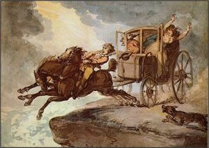 Rowlandson, 'Tis time to jump out! (1805)