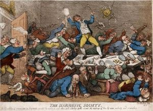 Rowlandson, The Harmonic Society (1811)