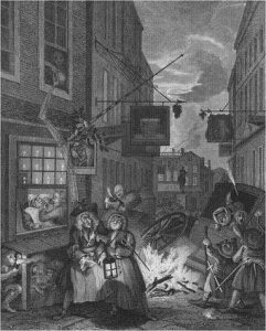 Hogarth, Night from Four Times of Day