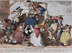 Rowlandson, Miseries of Travelling (1807)