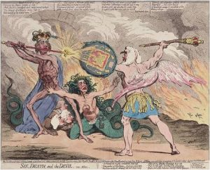 Gillray, Sin, Death and the Devil
