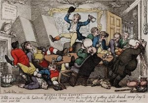 Rowlandson, Miseries of the country